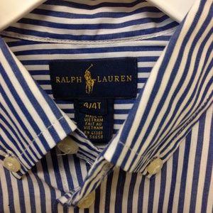 Ralph Lauren 4/4T  Shirt Navy White Stripe